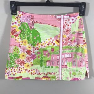 Lilly Pulitzer girls green & pink skirt size 12